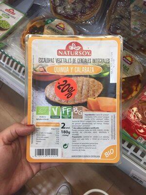 Escalopas vegetales de cereales integrales quinoa y calabaza - Produit - es
