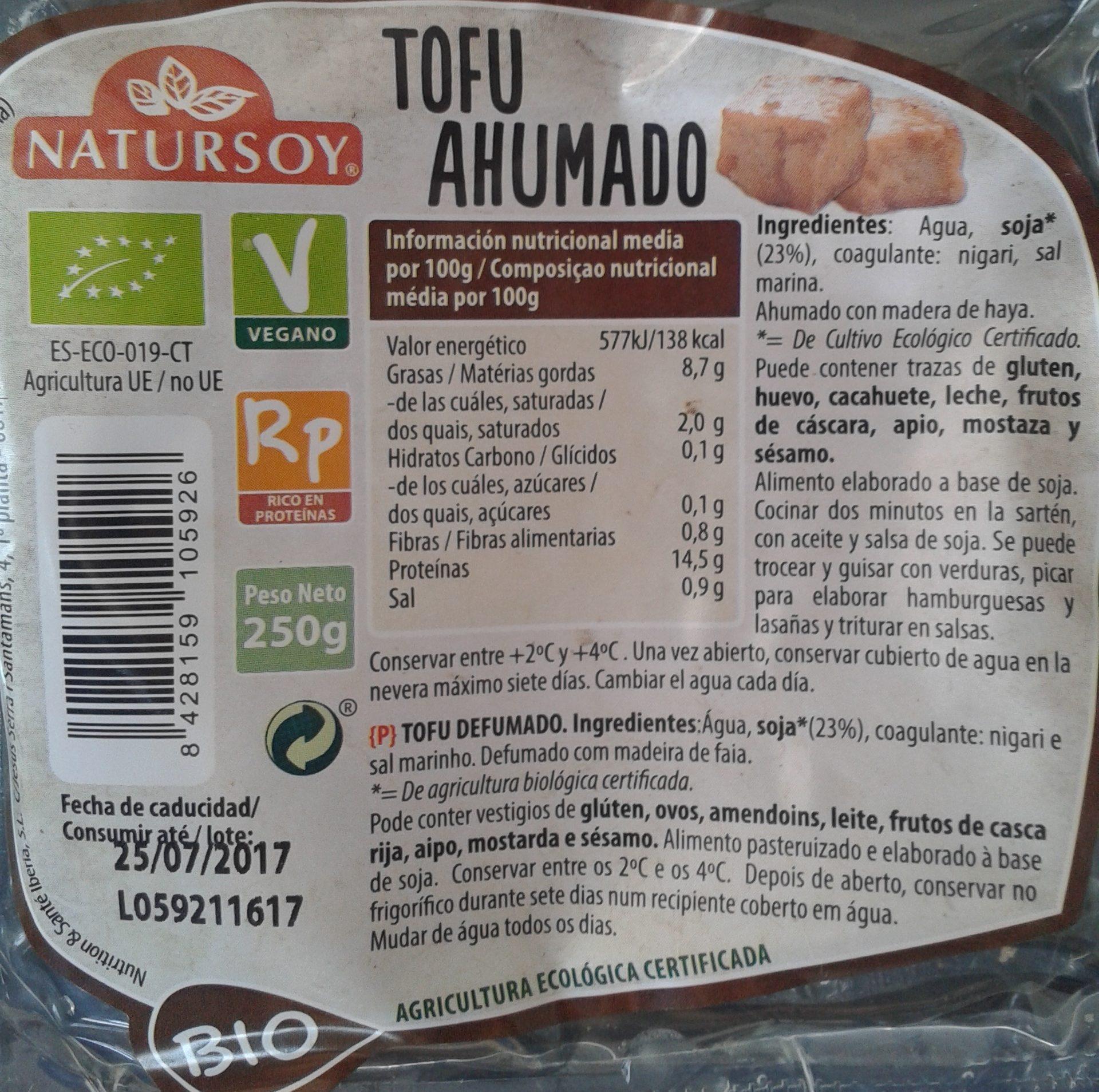 Tofu Ahumado Natursoy - Product