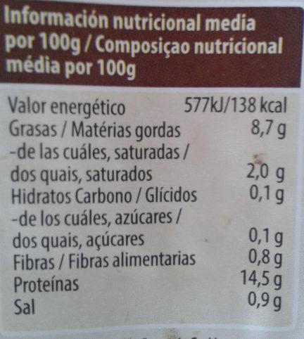 Tofu Ahumado Natursoy - Voedigswaarden
