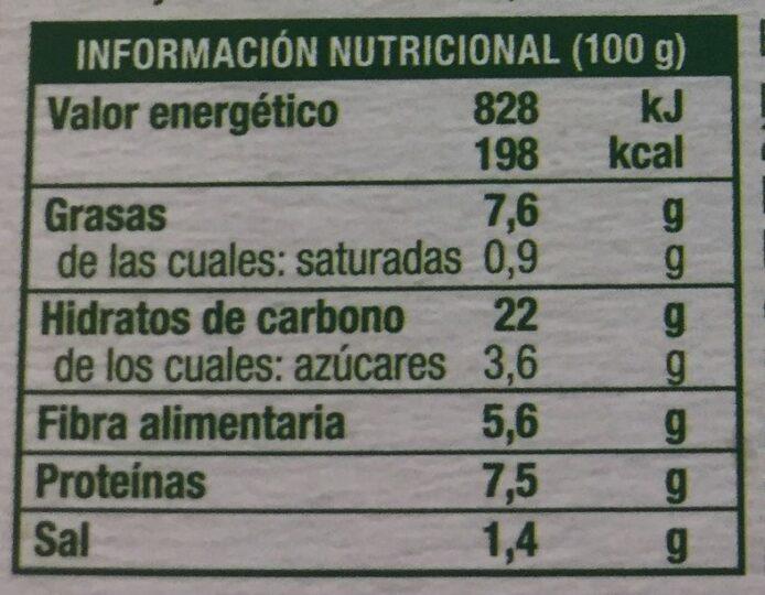 Quinoa y bulgur con tofu y verduras salteadas - Informations nutritionnelles - es