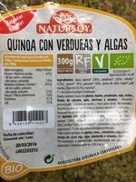 Quinoa con verduras y algas - Producto