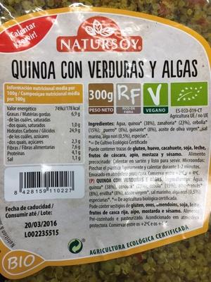 Quinoa con verduras y algas - Produit