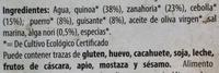 Quinoa con verduras y algas - Ingredientes