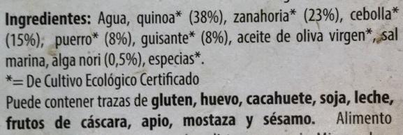 Quinoa con verduras y algas - Ingrédients