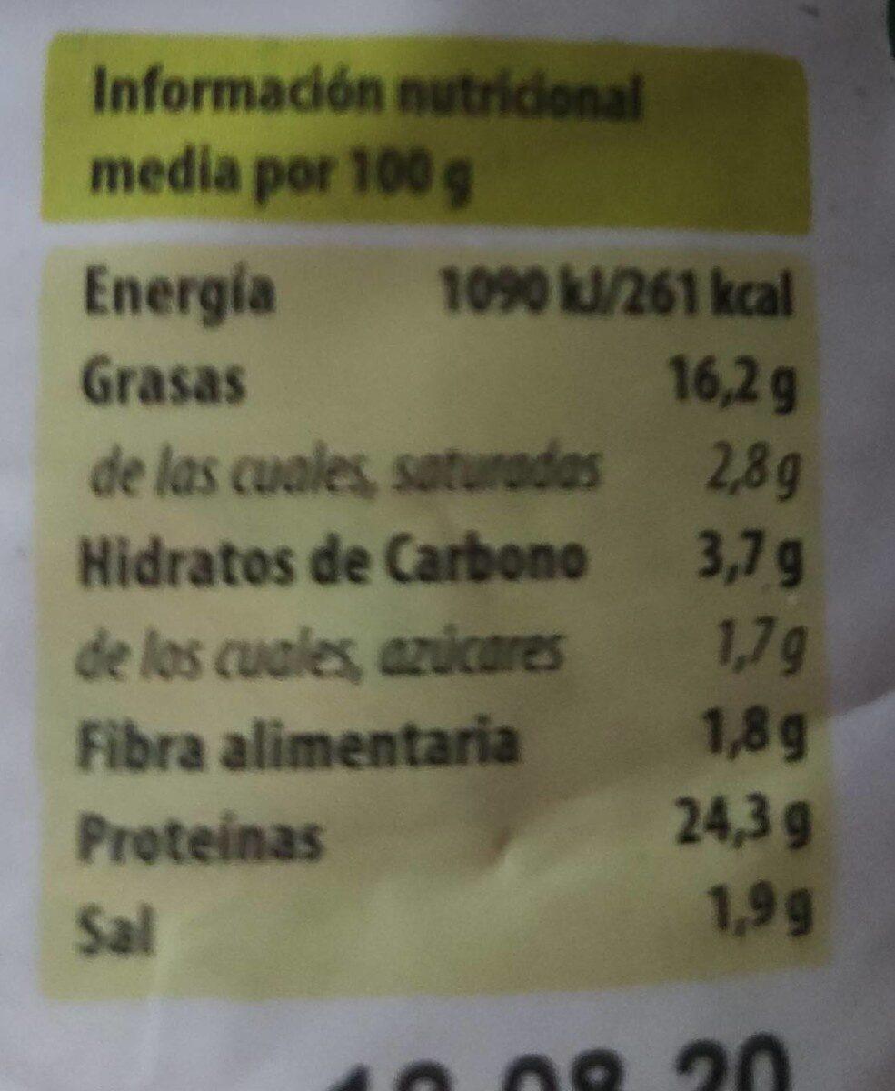 Tofu en lonchas - Informació nutricional - es