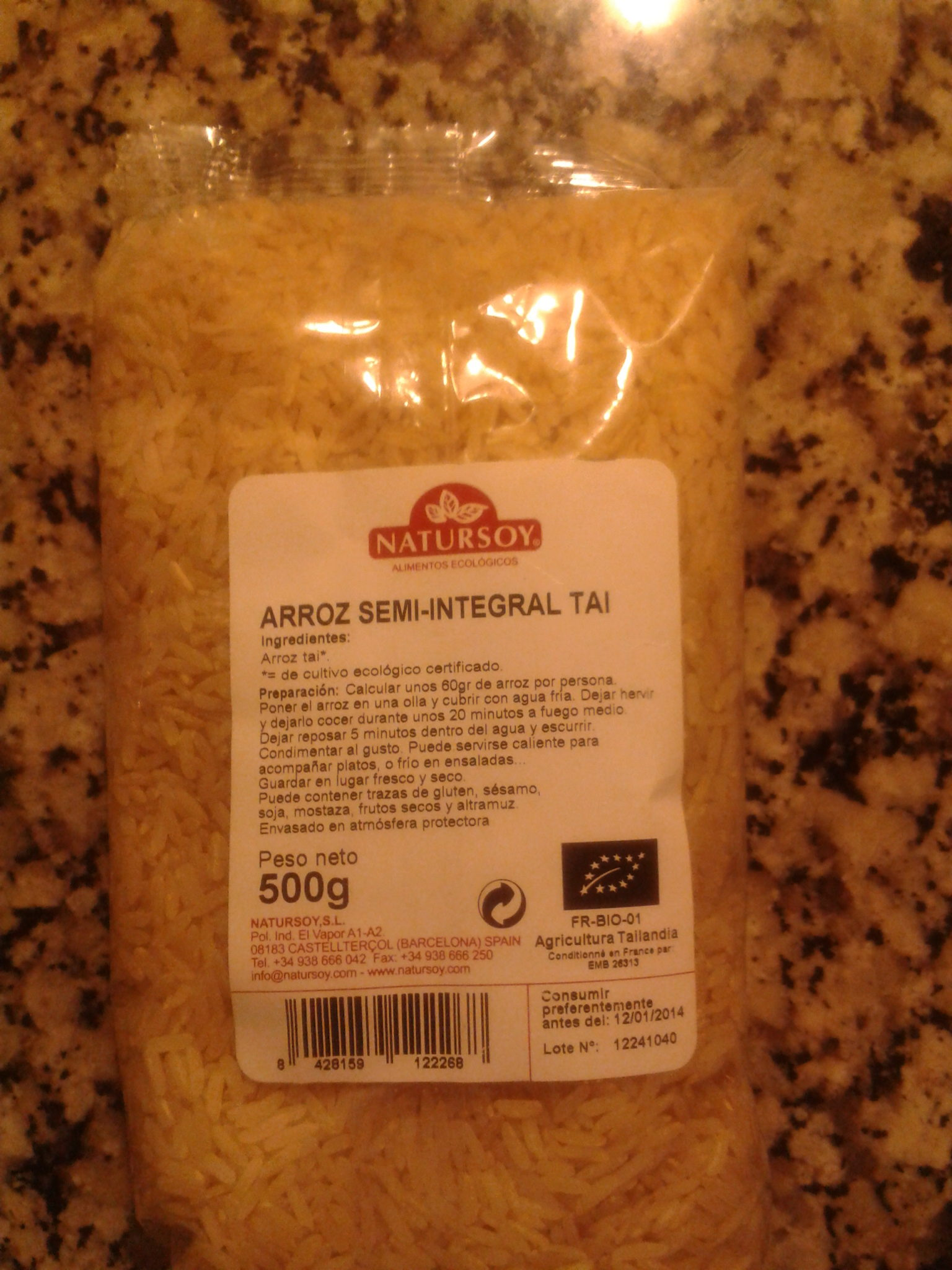 Arroz semi/integral Thai - Produit - es