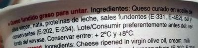 Crema queso Don Ismael - Ingredients
