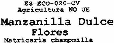 Manzanilla dulce - Ingredientes