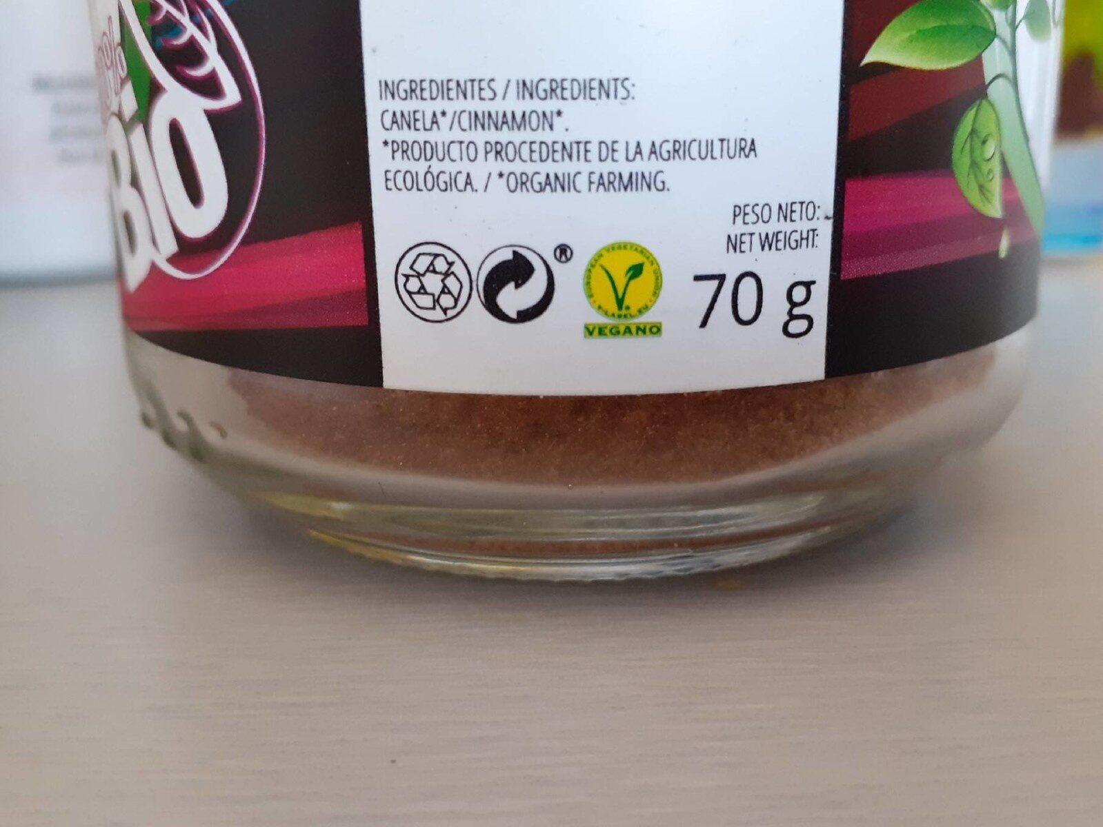Canela ceylan molida - Información nutricional - es