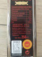 Vinagre de Jerez - Ingredientes - es