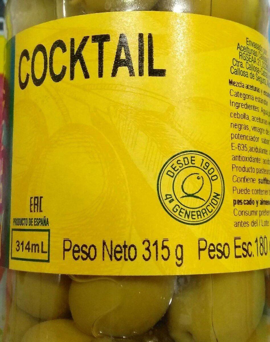Coocktail de aceitunas - Product - es