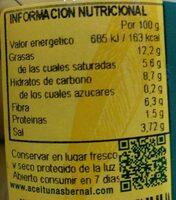 Coocktail de aceitunas - Nutrition facts - es