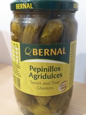 Pepinillos agridulces bernal