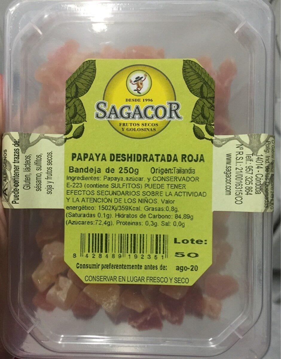 Papaya deshidratada roja - Producto - es