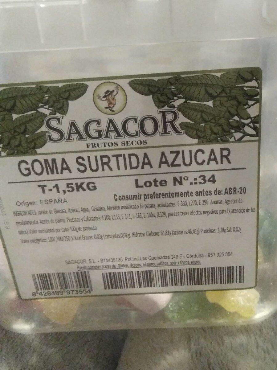 Goma surtida azucar - Producto - es