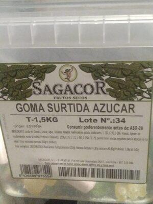 Goma surtida azucar - Información nutricional - es