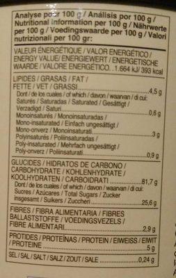 Instantané aux châtaignes - Información nutricional - es