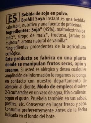 Soja - Ingredientes - es