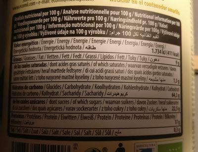 Soja - Información nutricional - es