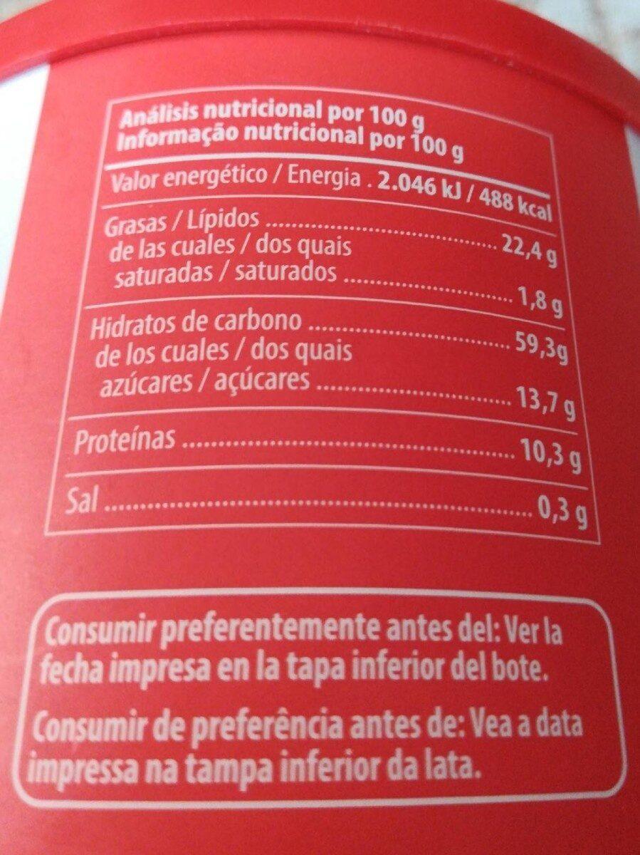 Bebida de avellana en polvo - Nutrition facts - es
