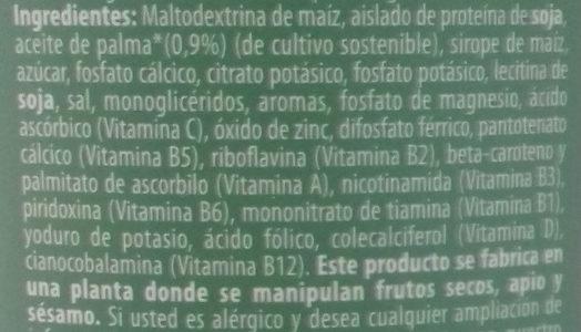 Die milk soja original - Ingredientes