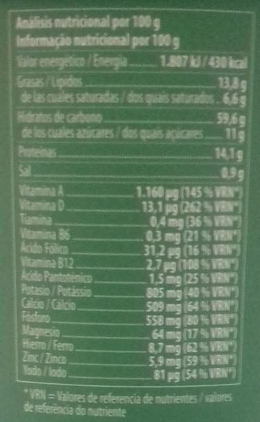 Die milk soja original - Información nutricional