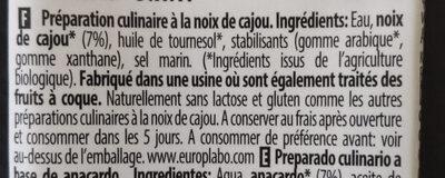 Noix de cajou nature - Ingredients - fr