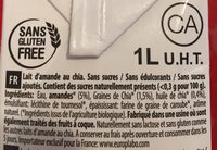 Almond Chia sans sucres - Ingrédients