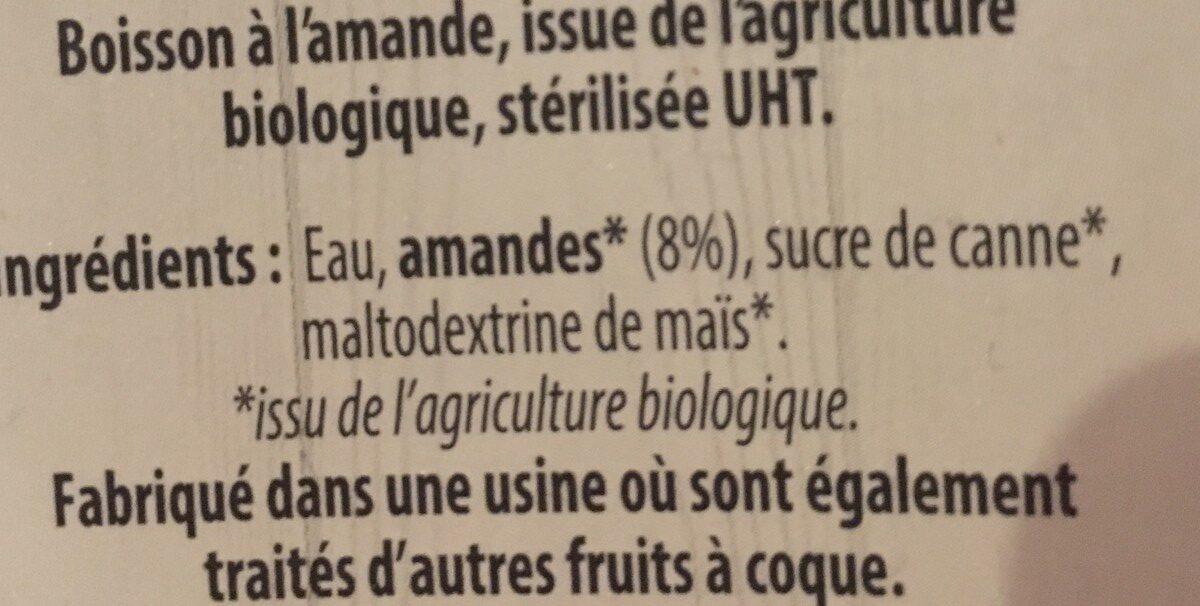 Boisson a l amande intense - Ingrédients - fr