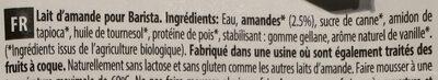 Almond barista - Ingrédients - fr
