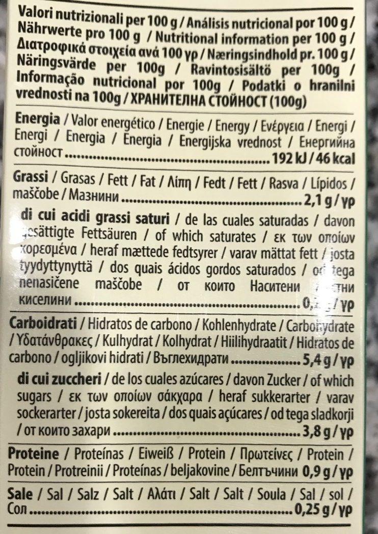 Mandorla Original Amande - Ecolim - Informations nutritionnelles
