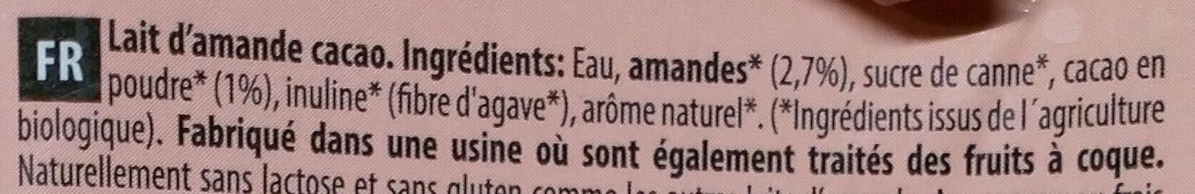 Lait de Amande - Ingrédients - fr