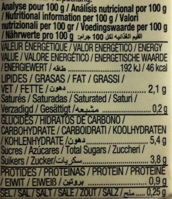 Almond - Información nutricional - fr