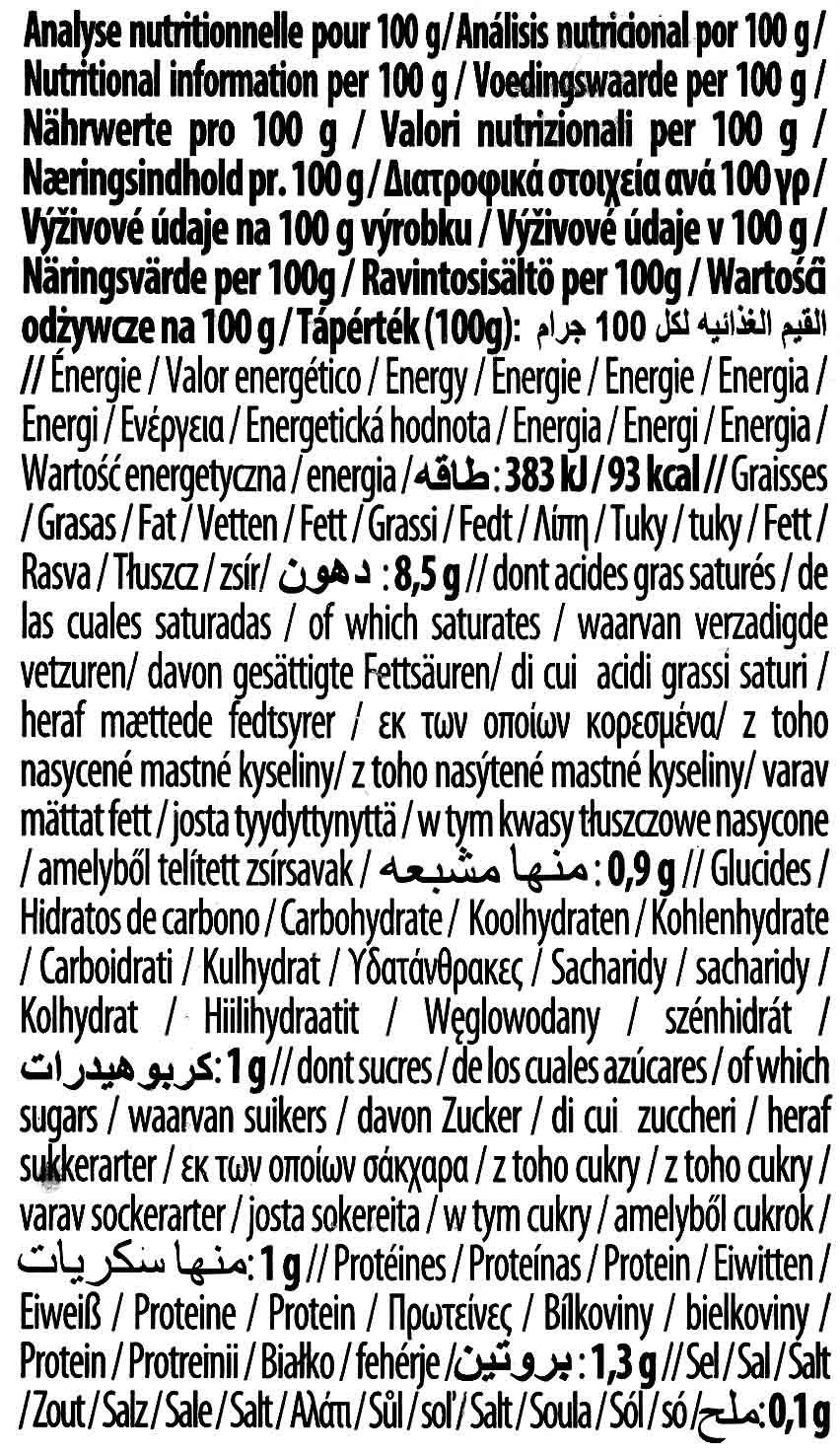 Cuisine Almendra - Información nutricional - es