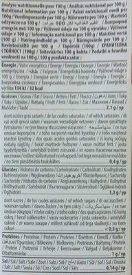 Lait d'amande sans sucres ajoutés - Información nutricional