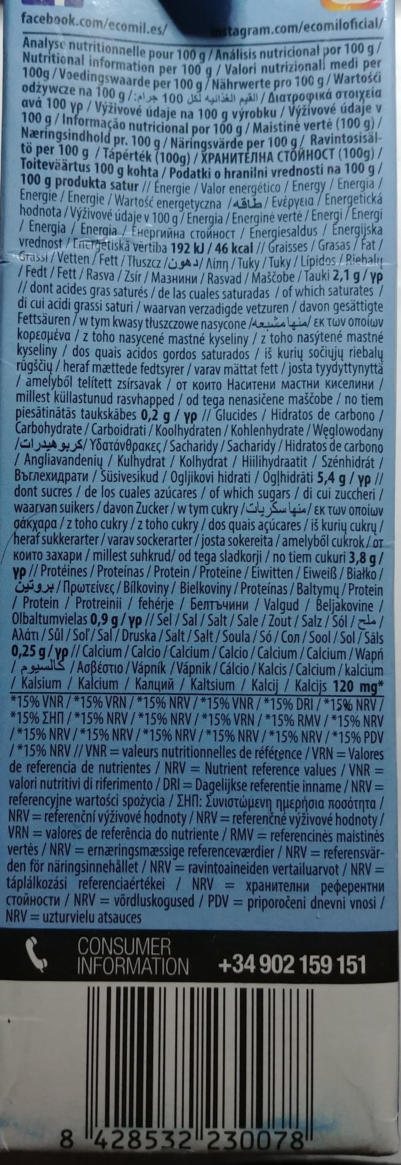 Boisson Amande Calcium - Nährwertangaben