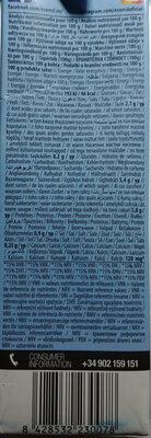 Boisson Amande Calcium - Wartości odżywcze