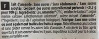 Lait d'amande nature calcium - Ingrédients - fr