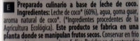 Lait de coco - Ingredientes - es
