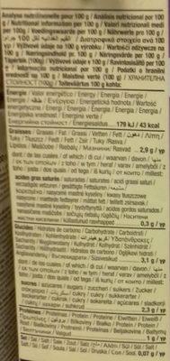 Hemp Original - Información nutricional