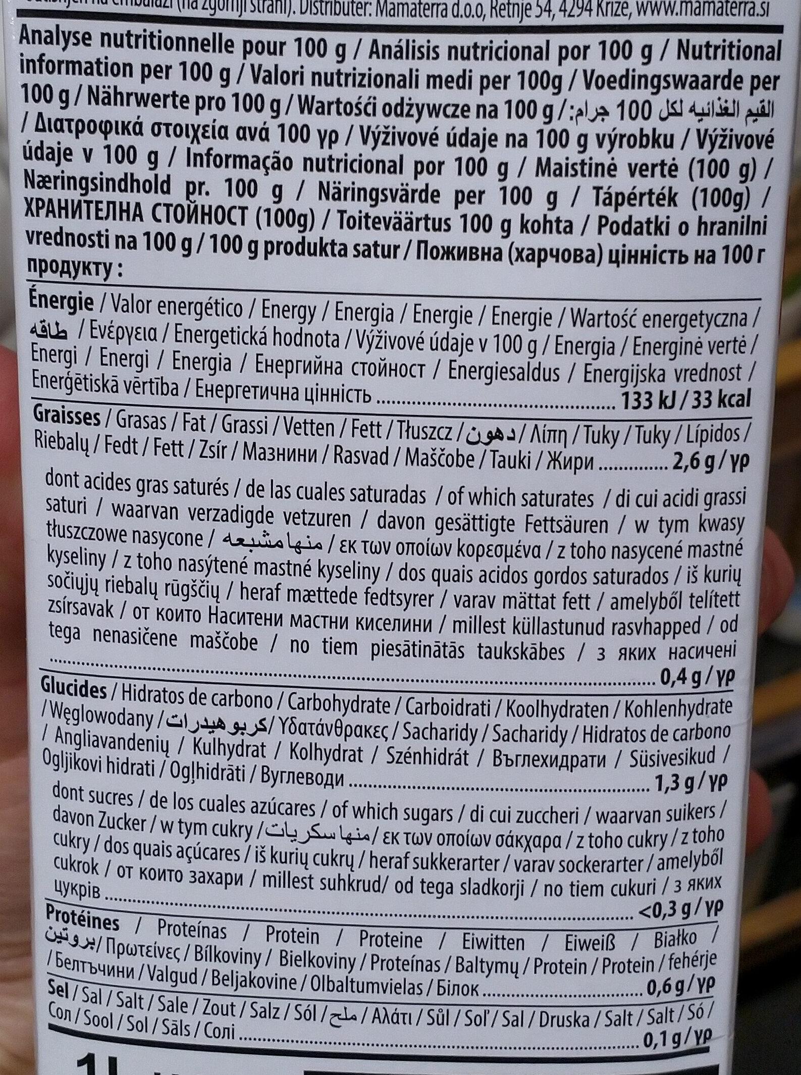 Hazelnut Drink U.H.T. - Informations nutritionnelles - fr