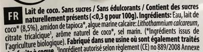 Coconut Milk U.H.T. - Ingrédients - fr