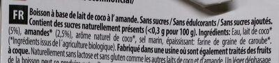 Coconut milk almond Nature - Ingrediënten