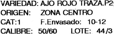 "Ajos ""Hnos. Carrasco"" - Ingrédients"
