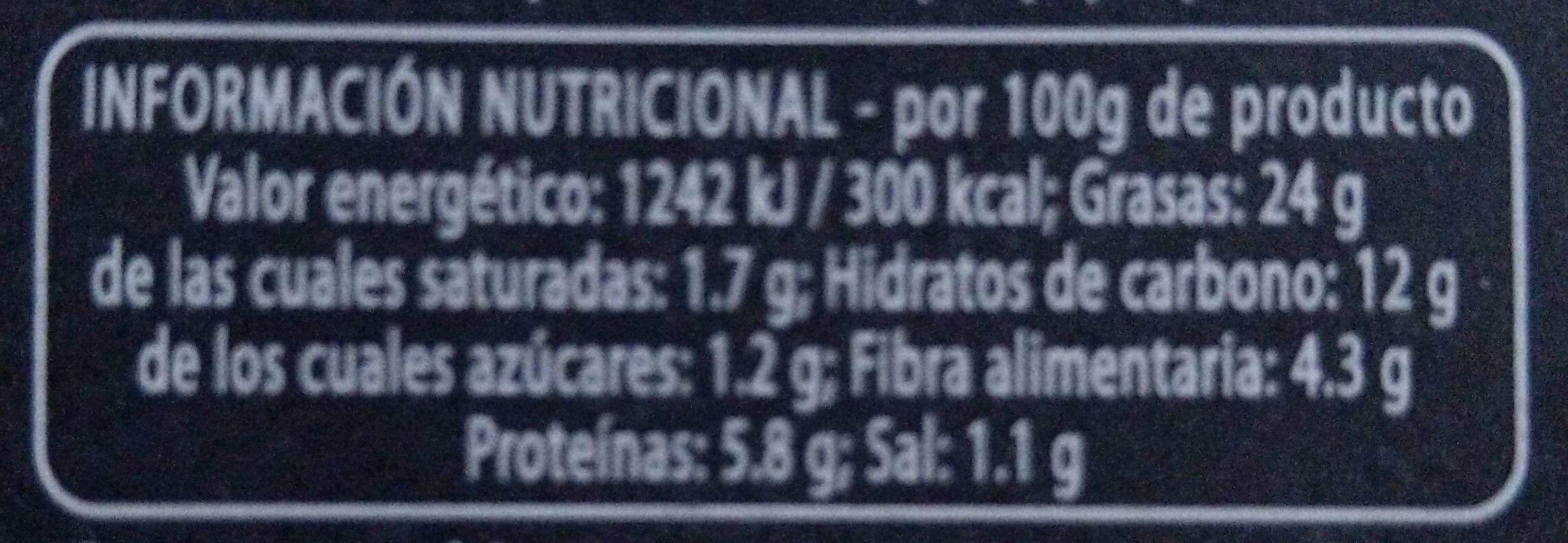 Hummus a la Menta - Información nutricional
