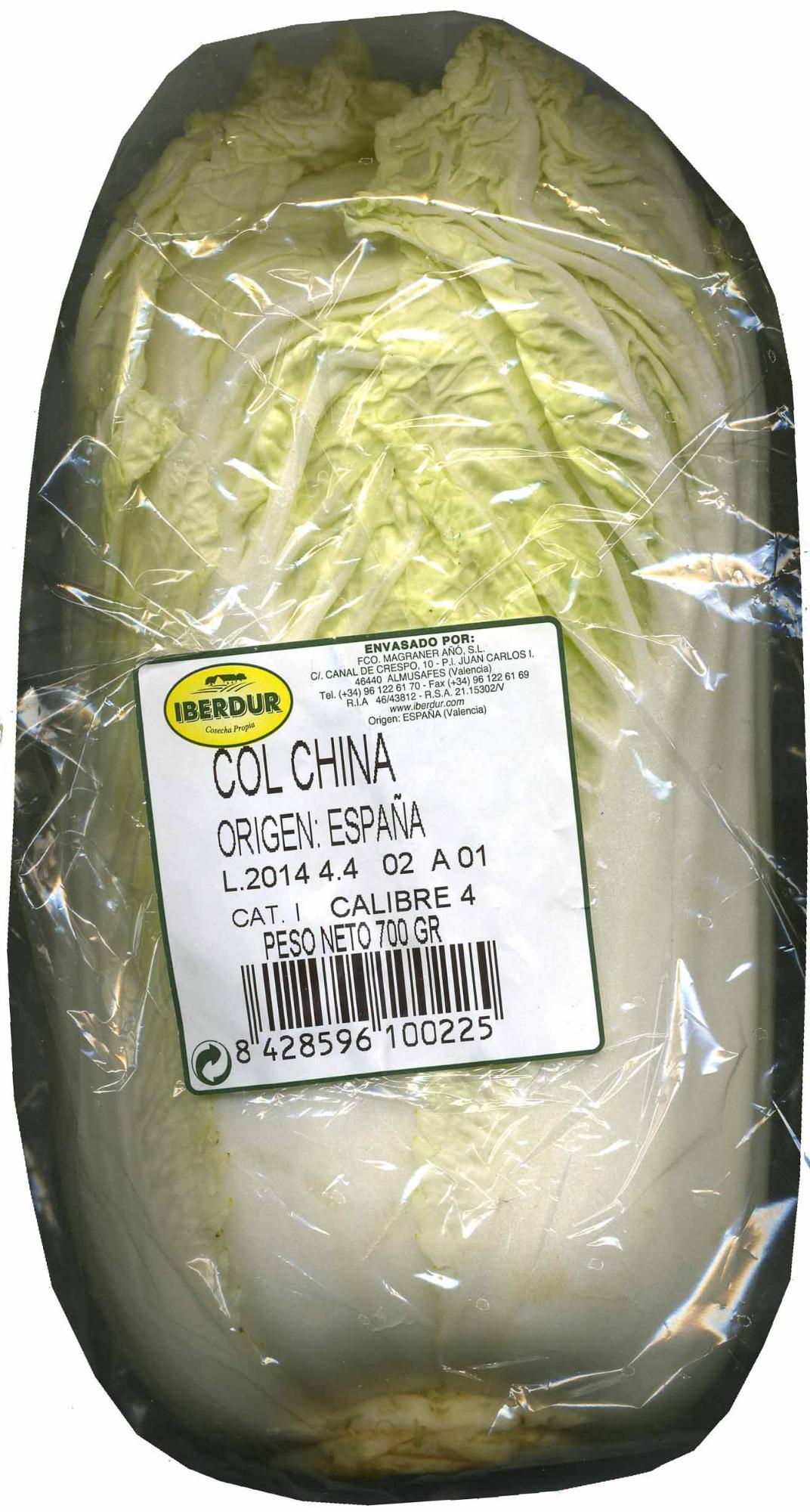Col china - Produit - es