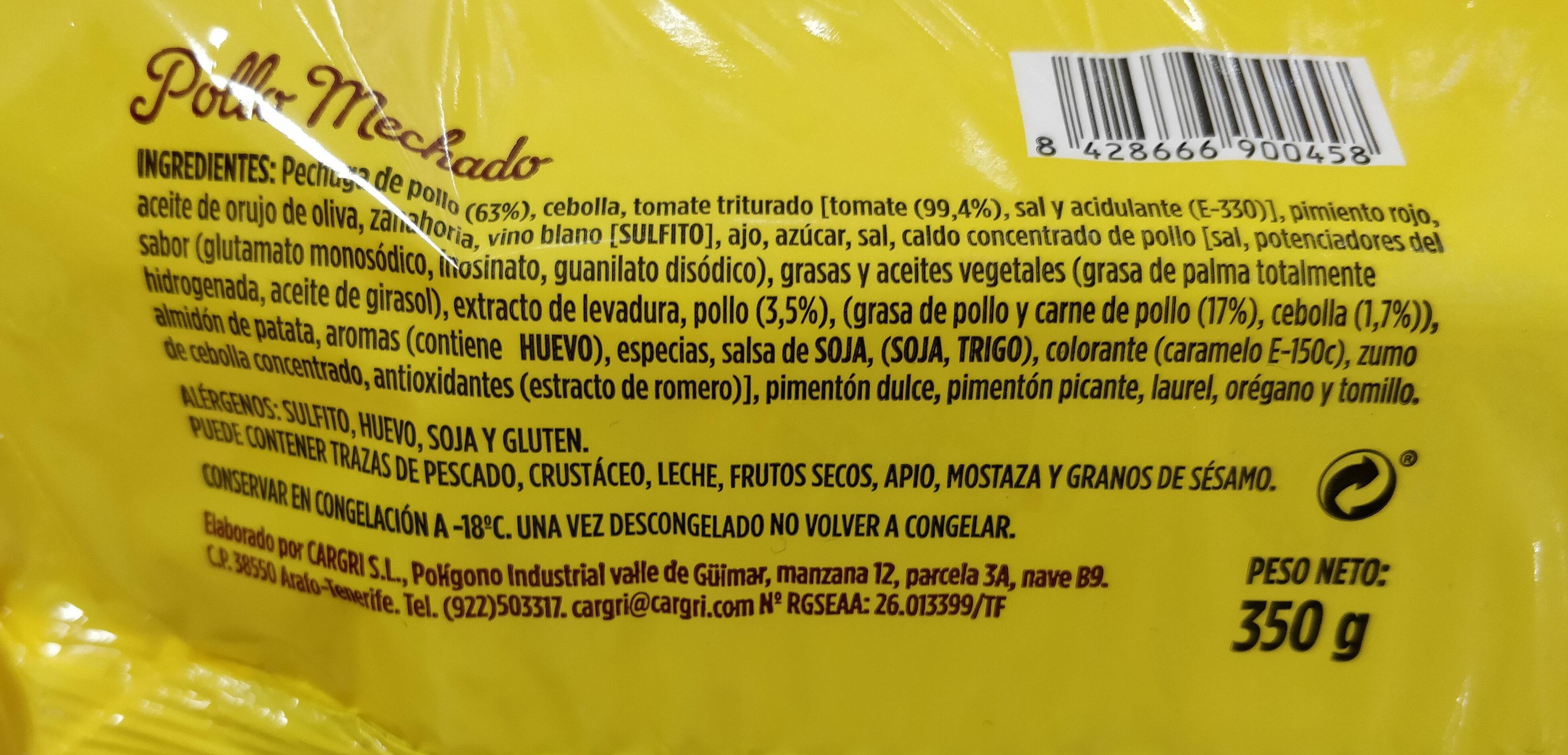 Pollo mechado - Ingrédients - es