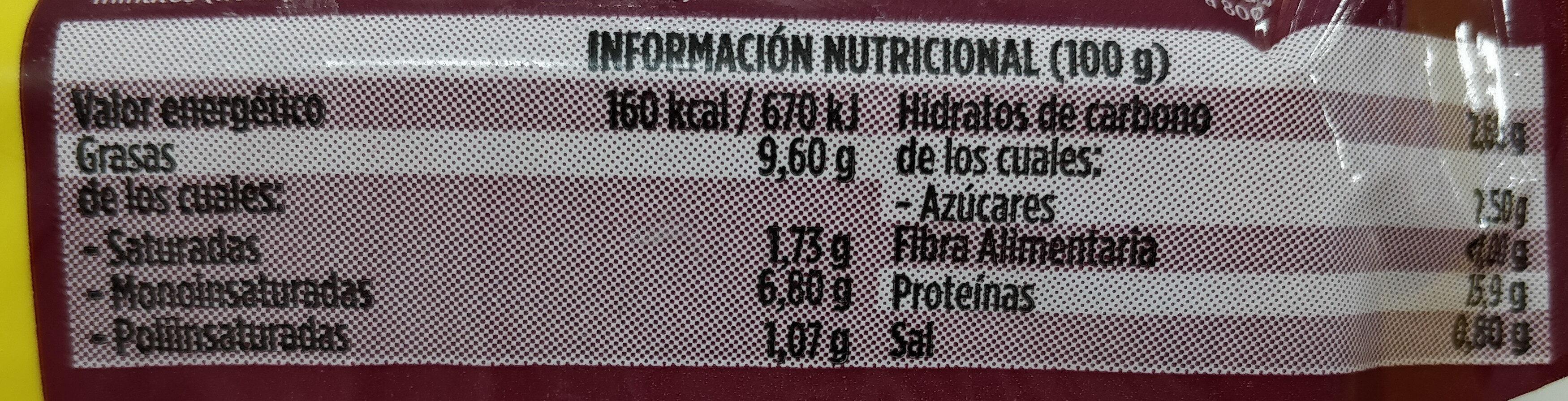 Pollo mechado - Informations nutritionnelles - es