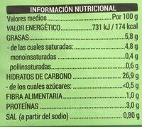 Arepas - Nutrition facts - es