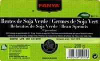 Brotes de soja tallos verdes - Ingredients - es